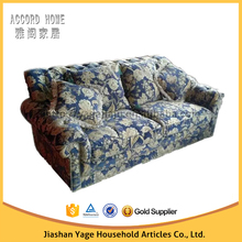 Fashion High Quality American style hand making fabric chesterfield two seater sofa