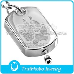 Hot new products for 2015 unique dog cremation jewelry silver cremation jewelry stainless steel dog tag urns pendant