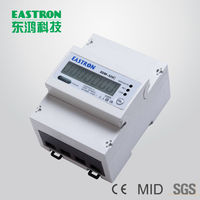 SDM320C Modbus RS485 Single Phase Two Wires Smart Din Rail kWh Energy Meter,CE Approved