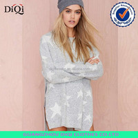 hottest angora star pullover sweater with long sleeve