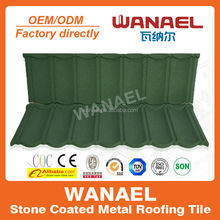 Wanael stone coated metal roof tile /colorful wood roof shingles