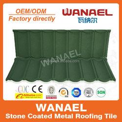 Wanael stone coated metal roof tile /colorful wood roof shingles