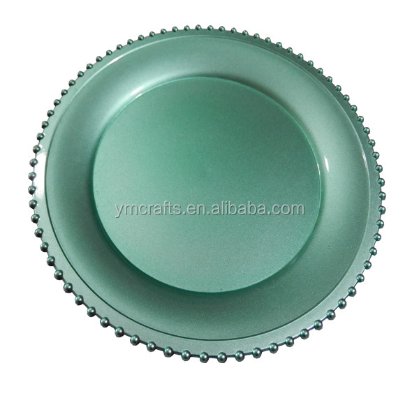 Wholesale Plates Elegant Wedding Bead Plastic Charger Plate Buy Charger Plate Plastic Charger