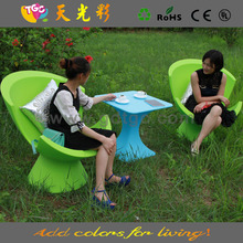 Moderno plástico exterior muebles, brillante muebles de color