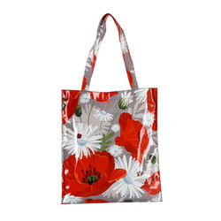Cheap big flower Messenger Designed shopping plain canvas bags