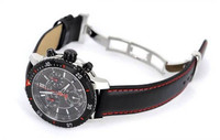 leather strap water resistant stainless steel sbao watch