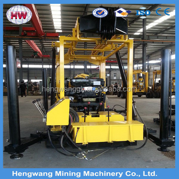 Mini water well drilling rig truck mounted