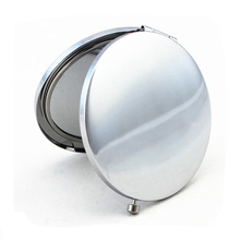 Cheap metal double side round hand held mirrors