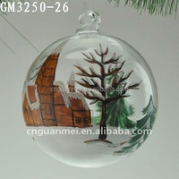 cheap price glass ball for tree hanging decoration