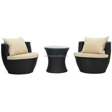 3 Piece Wicker Rattan VASE Stackable Coffee Table Lounge Chair Indoor Outdoor Patio