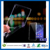 C&T Ultra thin clear tpu phone back cover case for sony xperia z1