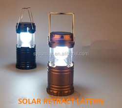 2015 new design 6led solar rechargeable camping lantern