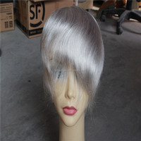 100% Chinese remy hair full lace wigs adding grey hair piece cheap toupee for women or men