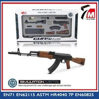 Gun for collection 1:6 scale diecast AK47 gun model gun replica