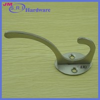 China supplier 304 stainless steel hanging door hook for fur coat