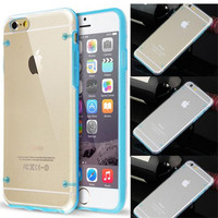 Wholesale Mobile Phone Bags & Cases Glow Luminous Case for iPhone 5S 6 6S Plus Transparent PC Cover