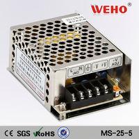 OEM High quality 25W Single output minisize power supply 5v 12v 24v power switch