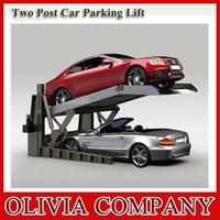 2 post tilting car lift for parking with CE