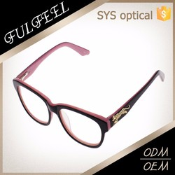Newest brand designer double color acetate eyewear optical frame