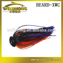 WZ XWC negro cabeza de la plantilla de silicona faldas de pesca de agua salada señuelos <span class=keywords><strong>jigging</strong></span>