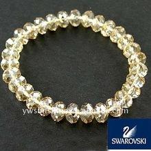 Crystal golden shadow glass beaded bracelets