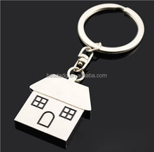 Wholesale custom metal alloy keychain, house style keychain with a key ring