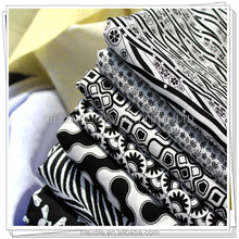 Cotton printing foreign trade cotton quilt black and white art home textile bedding cotton fabrics
