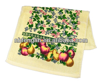 """15""""x25""""Flowers And Apples Design Printed 100 Cotton Towels In Kitchen"""