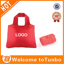 2015 fashion 190T polyester foldable promotional shopping bag
