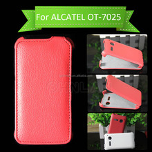 High Quality Wallet Flip Leather Cover Case For Alcatel One Touch Snap 7025D