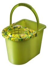 14L rectangular plastic mop bucket with printing