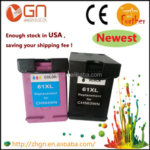 Remanufactured Ink cartridge for hp 61XL for HP Deskjet ink Advantage 2000/ 3000/3050 with chip show ink level