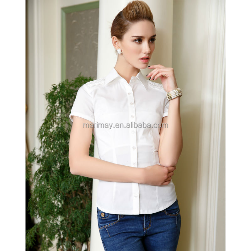 Womens tailored plus size short sleeve button down shirt for Womens stretch button down shirt