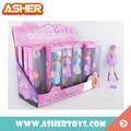 Lindo colorido encargo muñeca moda para las muchachas