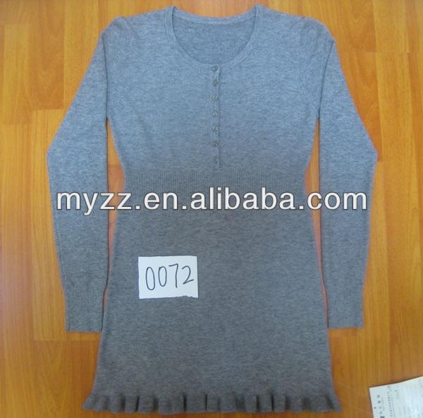 nuevo 2014 venta al por mayor de las mujeres suéter cardigan con la parte inferior de la flor en dongguan