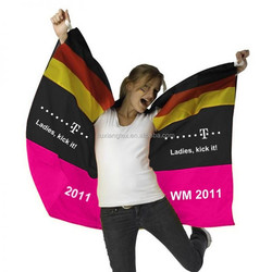 Custom Polyester Sports Cheering Wearble Flag Germany