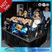 Portable amusement park equipment kiddy rides mini 6 seats flying chairs 5d 6d cinema