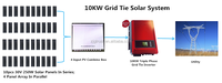 10kw On-grid Triple Phase Solar Power System