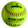 leather 12 inch cork core softball
