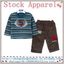 New design Cheap baby boys clothing set stock apparel wholesale