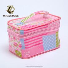 pvc di alta qualità tc14050 promozione cosmetici borsa da viaggio con cerniera