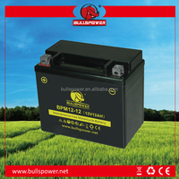 12v 12ah Maintenance free motorcycle Battery OEM