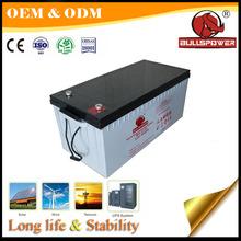 Clean energy 24v 12v 200ah lead acid solar battery 12v 200