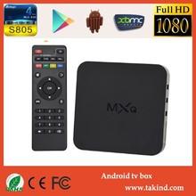 Amlogic S805 tv box android Quad Core MXQ android 4.4 xbmc skype wifi 4K ott tv box