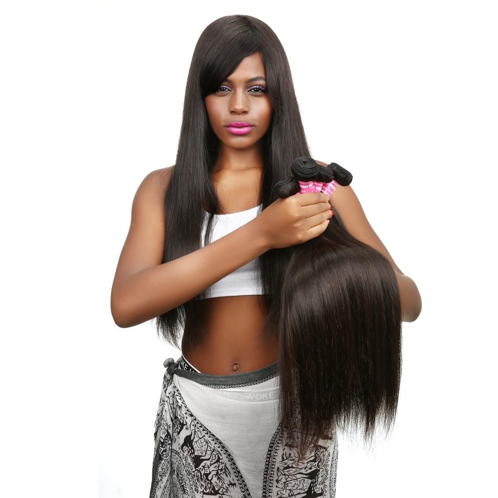 Dropship Afro Kinky Human Hair Peruvian Virgin Hair Straight Gray