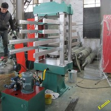 Four column customize size Rubber Flooring Vulcanizing Machine / Rubber Floor Tile Making Machine / Waste Tire Recycling Line