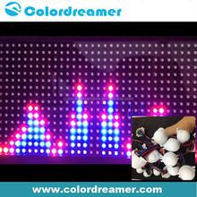 Ceiling video show 30mm diameter rgb dot dmx led for amusement places