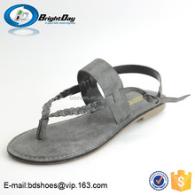 Summer style flat gem student shoes cheap summer sandals slippers and sandals