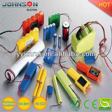 1.2v-24v 300mAh-20Ah Nimh Rechargeable battery pack nimh 3 6v high temperature battery