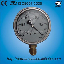 100mm stainless steel vacuum hydraulic bourdon tube pressure gauge manometer export to germany